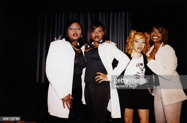 B group Xscape pose for a portrait in April 1998 in Chicago Illinois