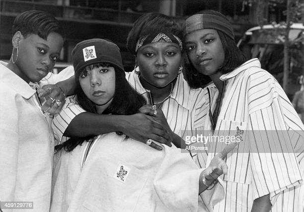 B group Xscape poses for a portrait in circa 1993 in New York City New York