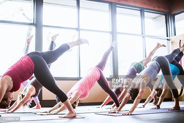 Group Yoga Class in Studio