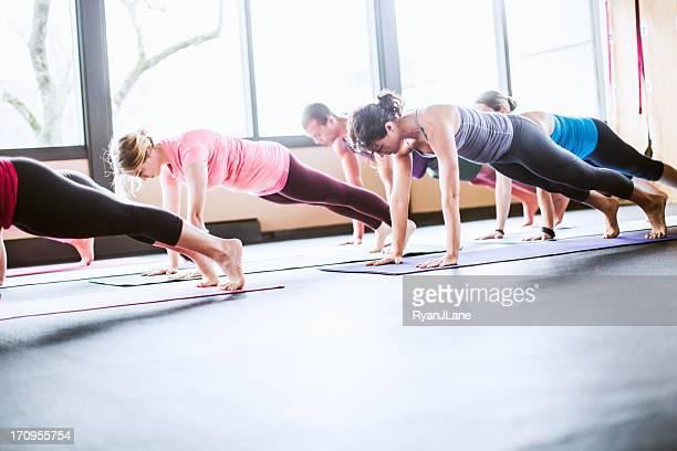 Group Yoga Class in Studio