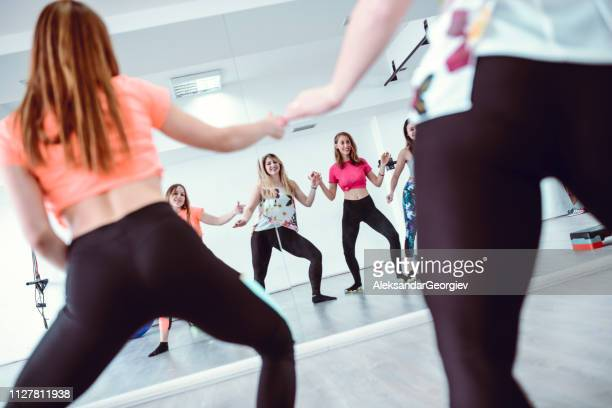 group zumba training - rumba stock photos and pictures