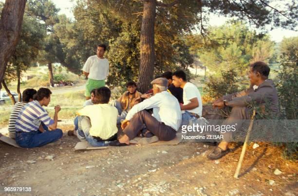 Groupe de harkis du Logis d'Anne le 27 juin 1991 à Jouques France
