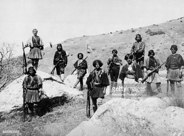 Groupe de montagnards dans la région de Ioannina en Grèce circa 1930