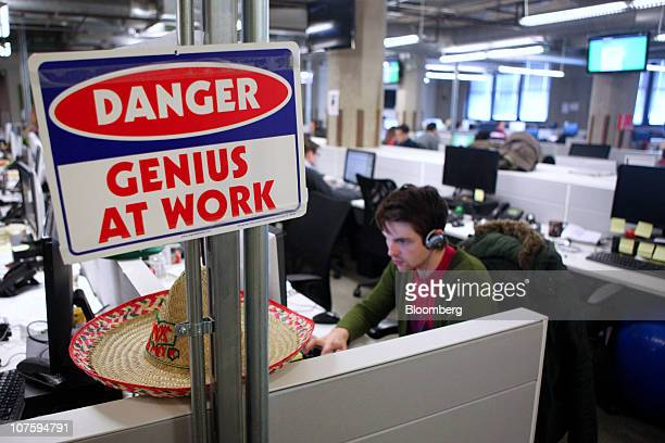 A Groupon Inc team member works at the company's headquarters in Chicago Illinois US on Tuesday Dec 14 2010 Groupon the startup provider of online...