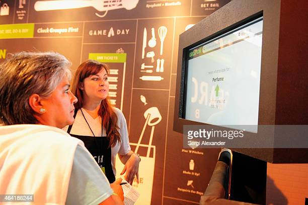Groupon on display at Best Of The Munchies People's Choice Food Awards hosted by Andrew Zimmern during the 2015 Food Network Cooking Channel South...