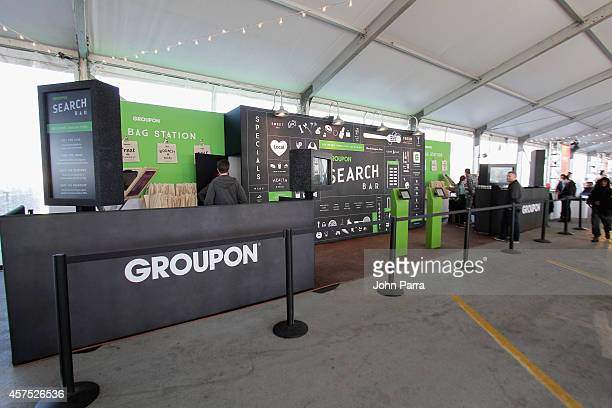 Groupon on display at Meatopia X The Carnivore's Ball Presented By Creekstone Farms Hosted By Michael Symon during Food Network New York City Wine...
