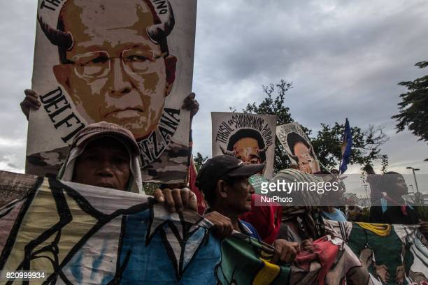 Groups from Southern Tagalog hold a demonstration on July 22 in Manila to oppose the Martial Law in Mindanao and the alleged US intervention in war...