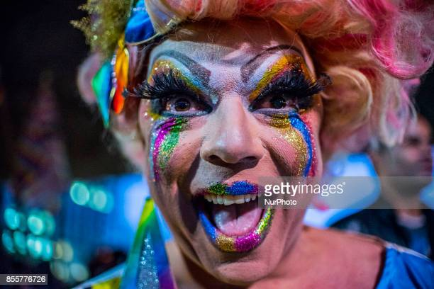 Groups linked to the LGBT movement protested on 29 September 2017 on Avenida Paulista central region of Sao Paulo Brazil against a decision by a...