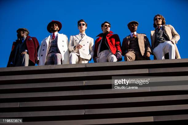 Groups of gentlemans are seen at Fortezza Da Basso on January 08 2020 in Florence Italy