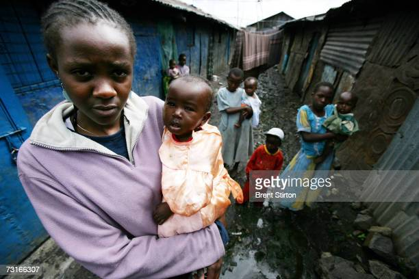 Groups of HIV positive women caring for other HIV positive women December 2006 in the slums of Nairobi Kenya HIV rates in Kenya are now at 5 to 1 in...