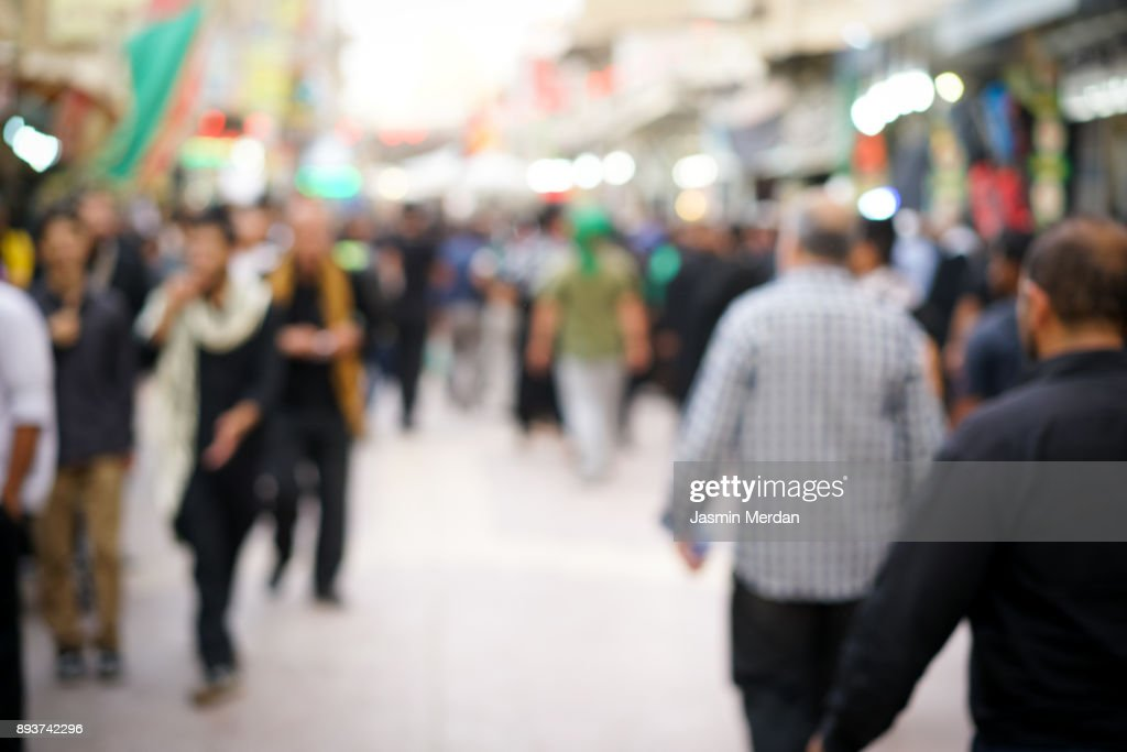 Groups of people walking together : Stock Photo