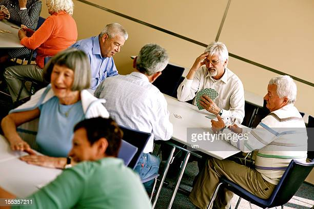 Groups of Seniors Playing Cards