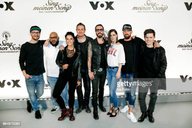 Groupshoot with german singer Mark Forster german Rapper and music producer Moses Pelham Stefanie Kloss singer of the band 'Silbermond' Sascha...