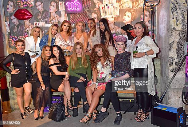 Groupshoot with Seyda Sorgec Shirin David Senna Guemmour and guests attend the URBAN DECAY Vice Lipstick Launch at Prince Charles Club on July 7 2016...