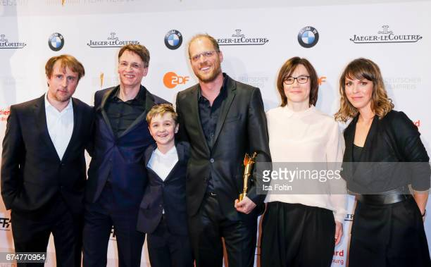 Groupshot Award winners with Anneke Kim Sarnau at the Lola German Film Award winners board at Messe Berlin on April 28 2017 in Berlin Germany