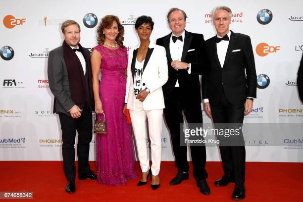 Groupshot during the Lola - German Film Award red carpet arrivals at Messe Berlin on April 28, 2017 in Berlin, Germany.