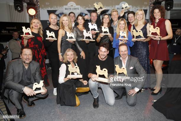 Groupshot of the winners during the 'Baltic Lights' charity event on March 10 2018 in Heringsdorf Germany The annual event hosted by German actor...