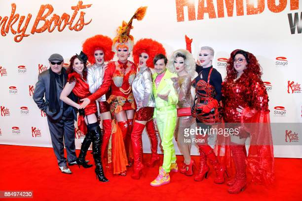 Groupshot with Eddy Kante Eve Champagne Barbie Stupis Olivia Jones Lee Jackson Veuve Noire Fanny Funtastic and Vanity Trash attends the 'Kinky Boots'...