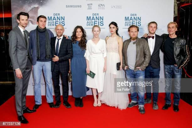 Groupshot with German actor Sabin Tambrea director Felix Randau German actor Juergen Vogel German actress Violetta Schurawlow Austrian actress...