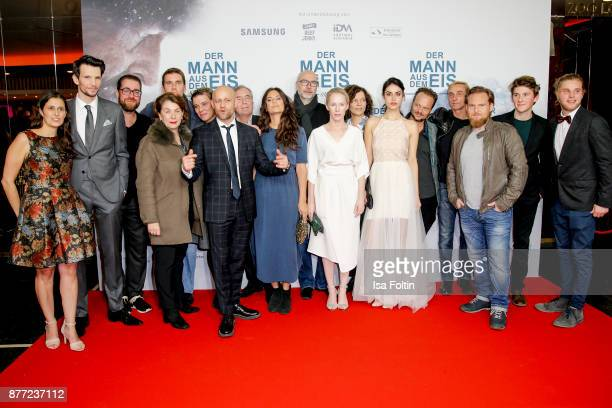 Groupshot with German actor Sabin Tambrea producer Jan Krueger German actor Juergen Vogel German actress Violetta Schurawlow Austrian actress Susanne...