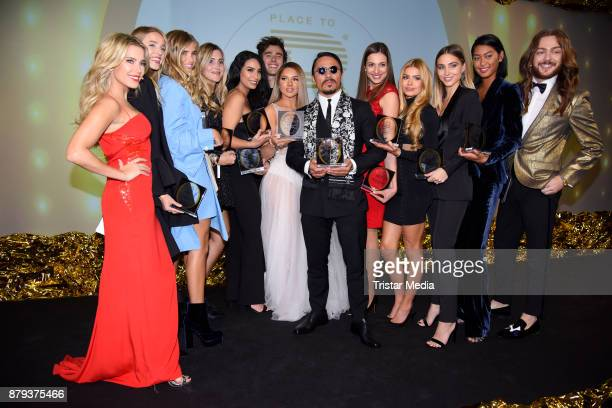 Groupshot with Sylvie Meis Shirin David Nusret Goekce AnnKathrin Broemmel Anuthida Ploypetch Riccardo Simonetti and others attend the Place To B...