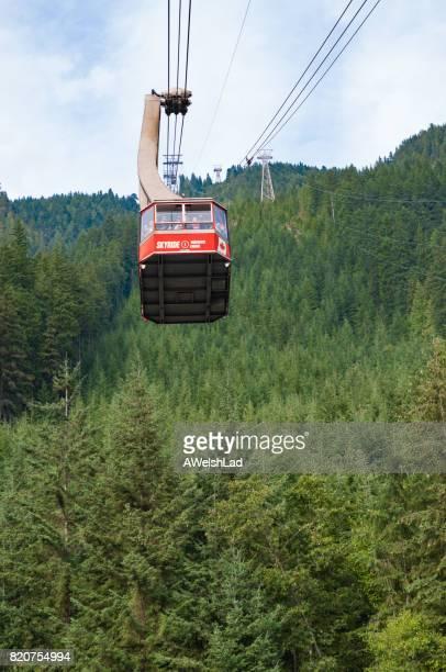 grouse mountain sky ride, vancouver, bc - montanhas north shore imagens e fotografias de stock