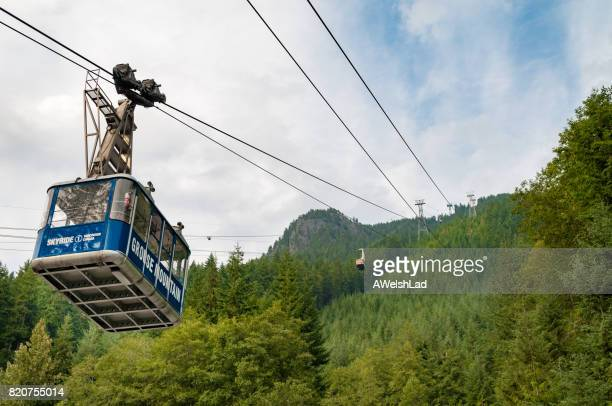 grouse mountain sky ride, vancouver, bc - grouse mountain stock photos and pictures