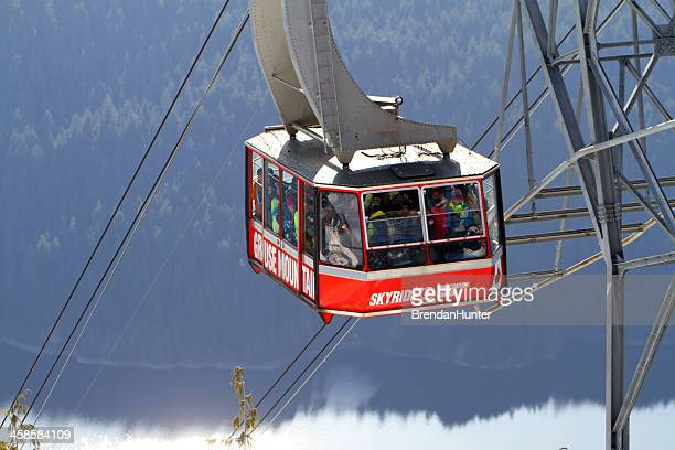 grouse mountain skyride - grouse mountain stock photos and pictures
