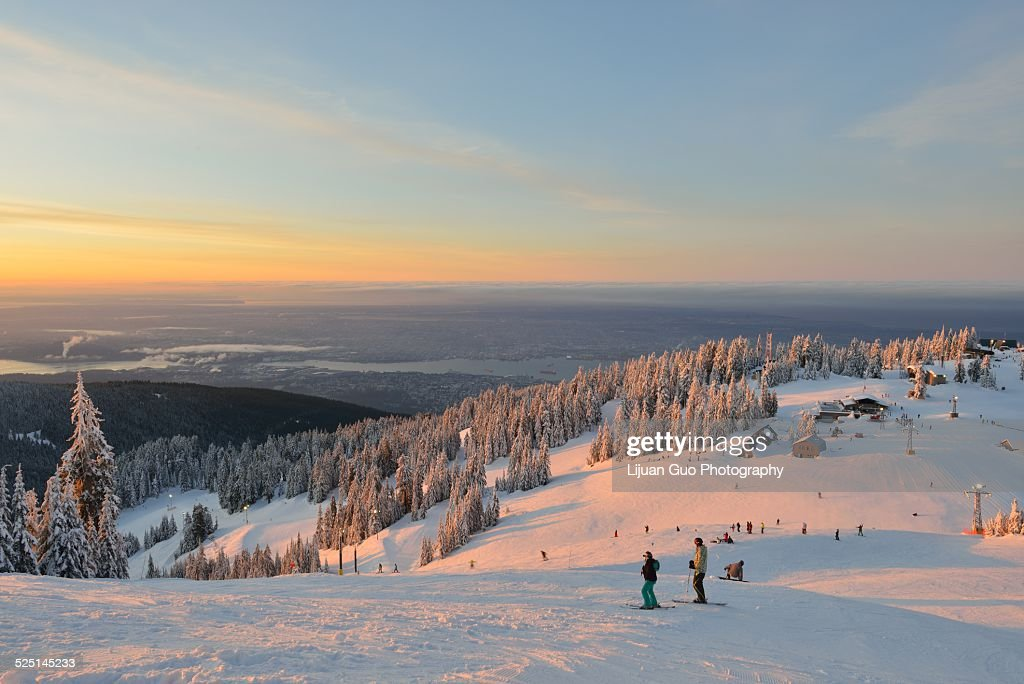 Grouse Mountain sunrise : Stock Photo