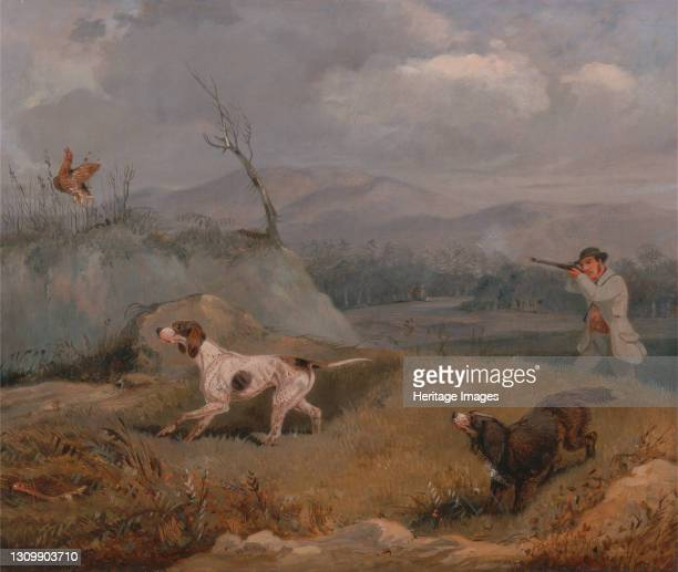 Grouse Shooting, ca. 1825. Artist Henry Thomas Alken. .