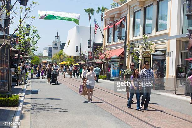grove center shopping - the grove los angeles stock pictures, royalty-free photos & images
