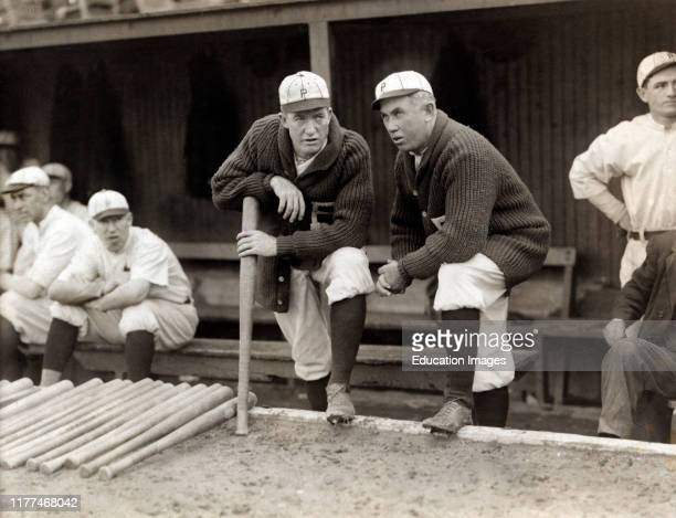 Grover Cleveland Alexander Manager Pat Moran in background are Joe Oeschger Possum Whitted Milt Stock Philadelphia Phillies Bain News Service 1915