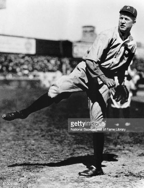 Grover Cleveland Alexander of the Philadelphia Phillies delivers a pitch during a game Ole' Pete played for the Phillies from 19111917 and in 1930