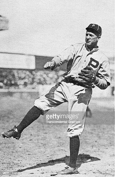 PHILADELPHIA 1916 Grover Cleveland Alexander of the Philadelphia Phillies warms up before a game in the 1916 in Philadelphia Pennsylvania