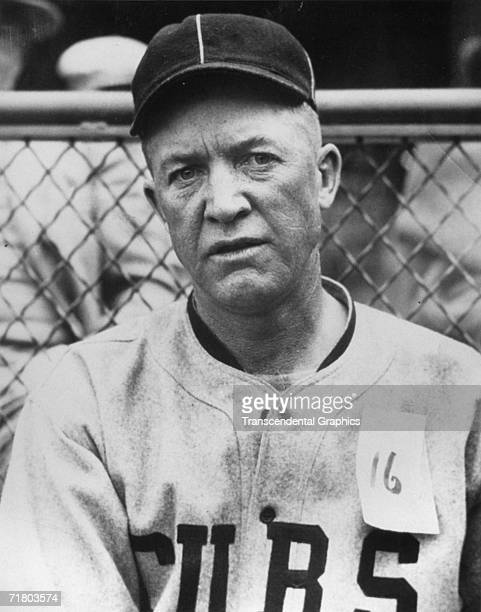 Grover Cleveland Alexander pitcher for the Chicago Cubs poses in 1921 in Wrigley Field