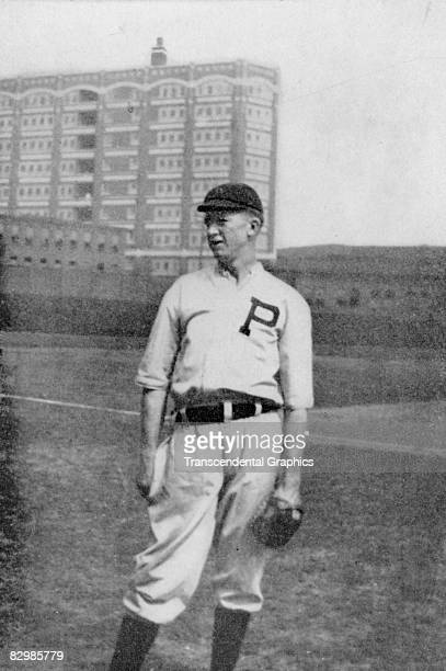 Grover Cleveland Alexander pitcher for the Phillies poses before a game at home in 1913