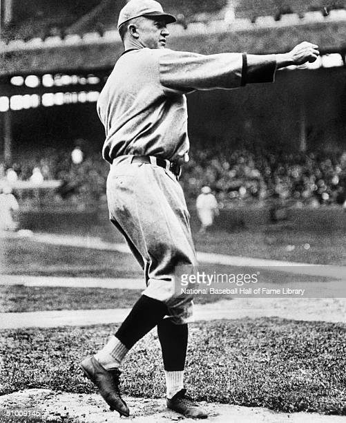 Grover Cleveland Alexander pitches during a game Ole' Pete played for the Philadelphia Phillies in 19111917 and 1930 the Chicago Cubs 19181926 and...
