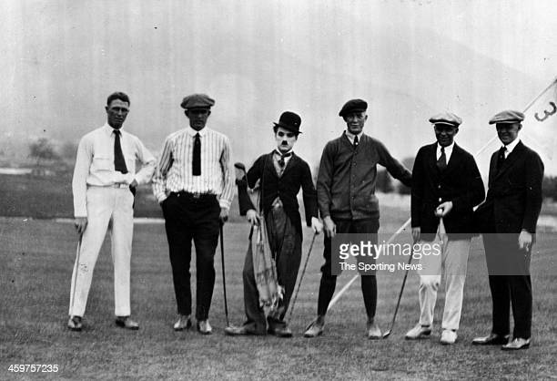 Grover Cleveland Alexander with Charlie Chaplin during filming of The Tramp