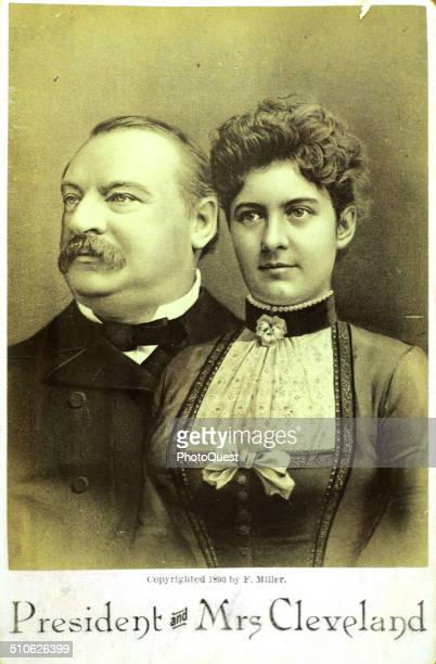 Grover Cleveland and wife Francis Folsom Cleveland Ohio 1886