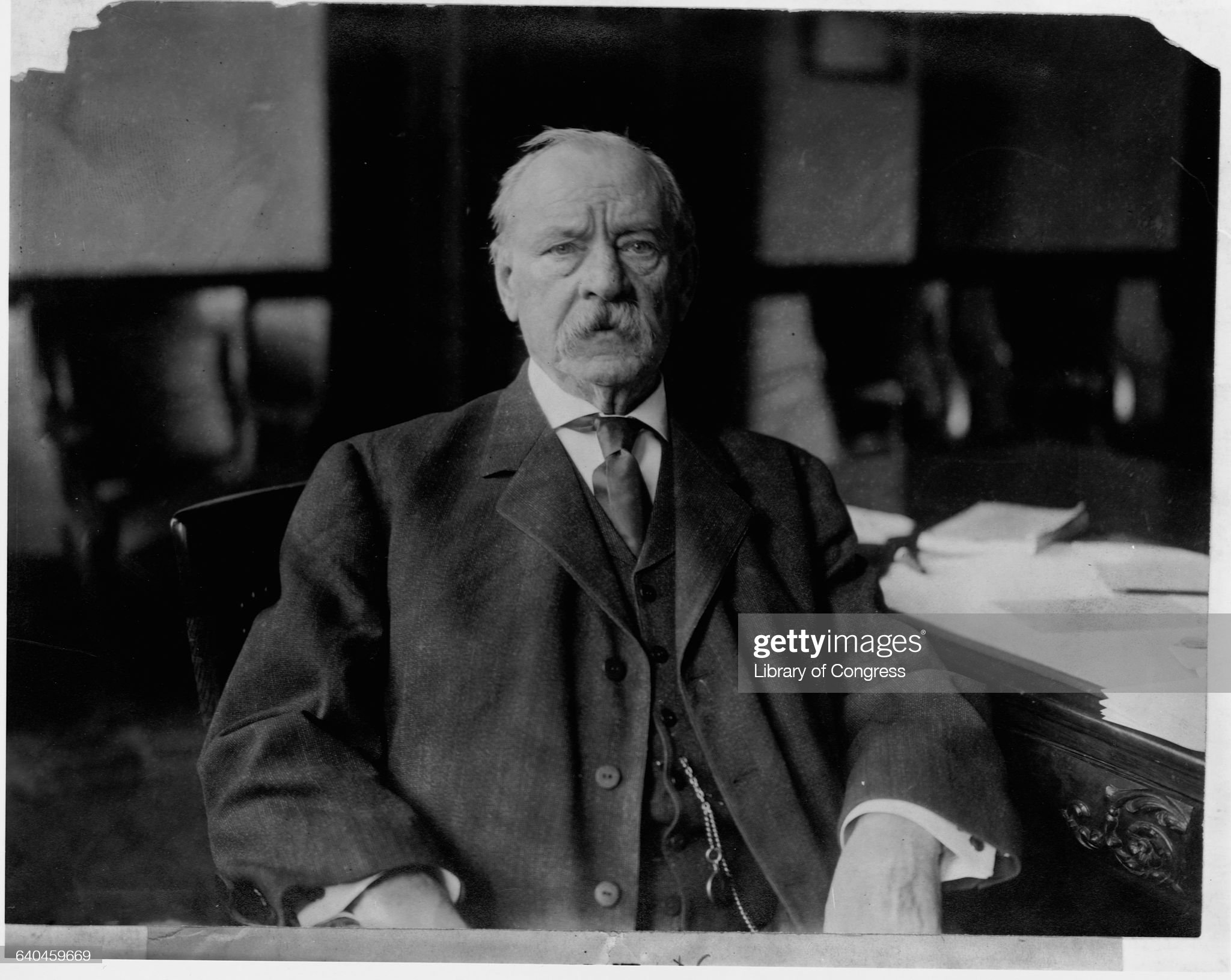 Grover Cleveland at Desk : News Photo