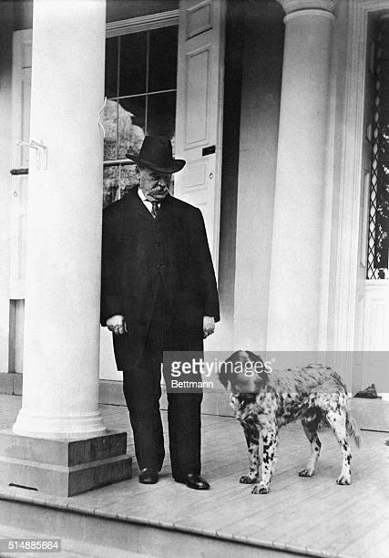 Grover Cleveland with his dog Photograph 1905