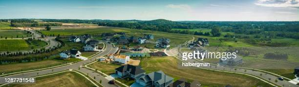 growing wisconsin suburb - aerial panorama - vilas_county,_wisconsin stock pictures, royalty-free photos & images