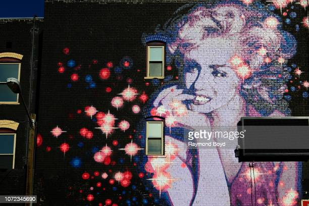 Growlove's Marilyn Monroe mural is displayed downtown in Denver Colorado on November 15 2018 MANDATORY MENTION OF THE ARTIST UPON PUBLICATION...