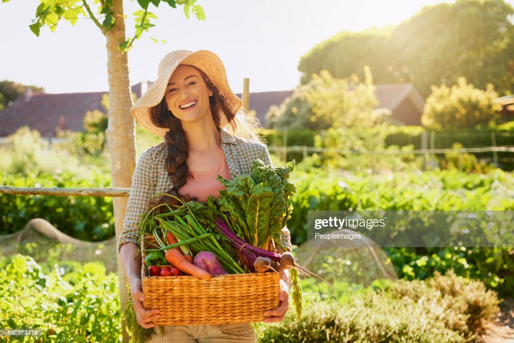 Grown by Mother Nature herself : Stock Photo
