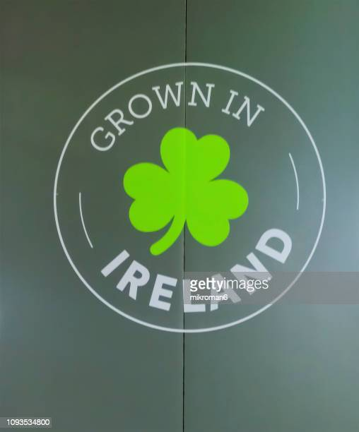 grown in ireland sign. good luck - st patricks background stock pictures, royalty-free photos & images