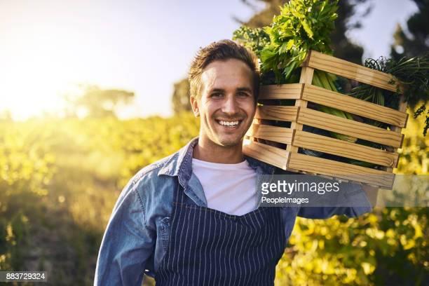 grown organically just as it should be - agricultor imagens e fotografias de stock