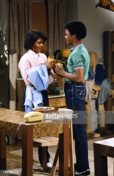 RENT STROKES Growning Up Episode 1 Pictured Janet Jackson as Charlene DuPrey Todd Bridges as Willis Jackson Photo by Paul Drinkwater/NBC/NBCU Photo...