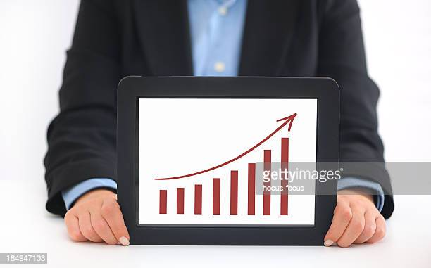 Growth chart on tablet pc