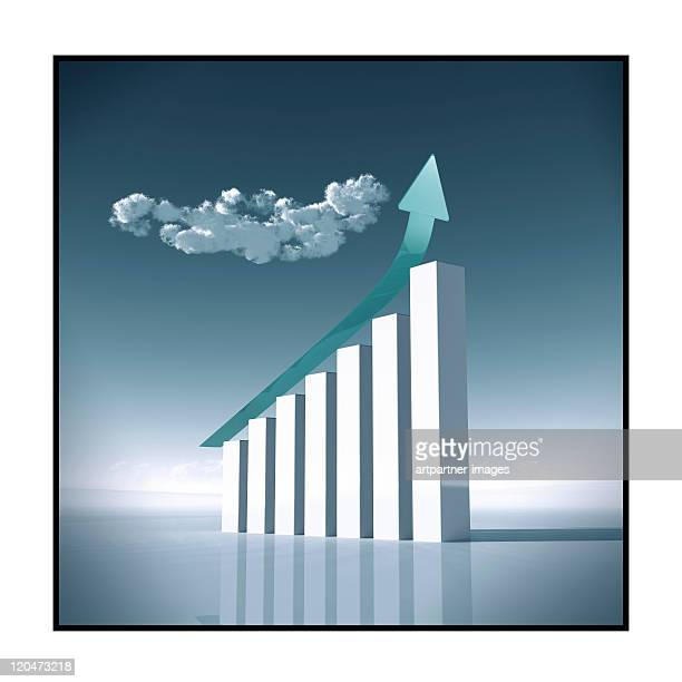 Growth Chart with steeply rising Arrow