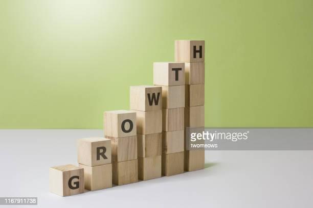 growth concept image. - la scala del successo foto e immagini stock